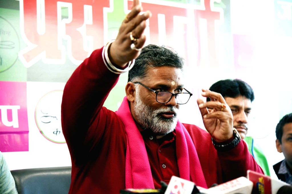 Bihar: Conference on Kisan Protest by Jan Adhikar Party supremo Pappu Yadav on Friday 05 February 2021   (Photo: Indrajit Day/IANS) - Pappu Yadav