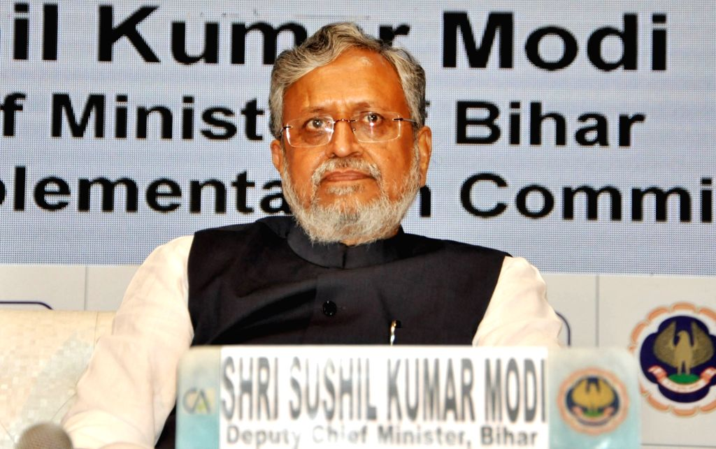 Bihar Deputy Chief Minister and GST Network panel head Sushil Kumar Modi during a national seminar organsied by Institute of Chartered Accountants of Indiaon Goods and Services Tax (GST), in ... - Sushil Kumar Modi