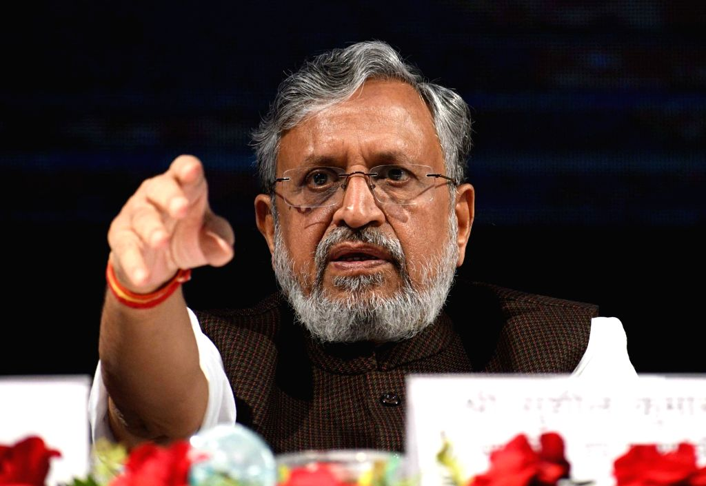 Bihar Deputy Chief Minister Sushil Kumar Modi during a programme in Patna on Dec 5, 2017. - Sushil Kumar Modi