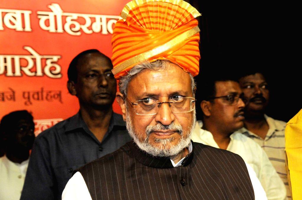 Bihar Deputy Chief Minister Sushil Kumar Modi during a programme in Patna on March 30, 2018. - Sushil Kumar Modi
