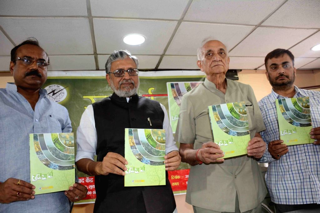 Bihar Deputy Chief Minister Sushil Kumar Modi during the launch of a book, in Patna on March 31, 2018. - Sushil Kumar Modi