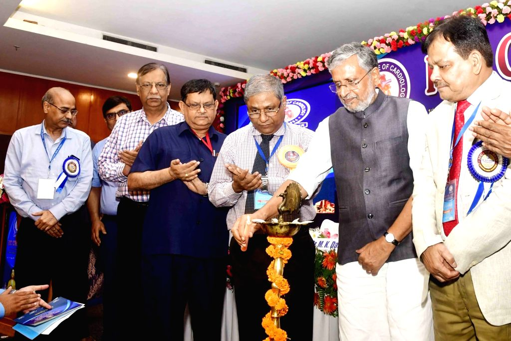 Bihar Deputy Chief Minister Sushil Kumar Modi during the 1st Annual Conference organised by Indian College of Cardiology, in Patna on Aug 3, 2019. - Sushil Kumar Modi