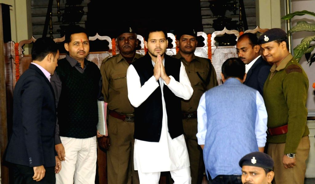 Bihar Deputy Chief Minister Tejashwi Yadav at the​ state assembly in Patna on Dec 4, 2015.