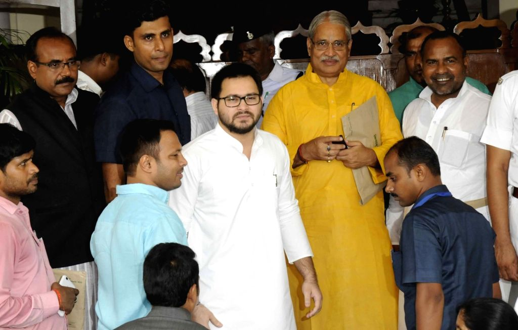 Bihar Deputy Chief Minister Tejaswi Yadav arrives at state assembly to attend monsoon session in Patna, on Aug 1, 2016. (Photo: IANS) - Tejaswi Yadav