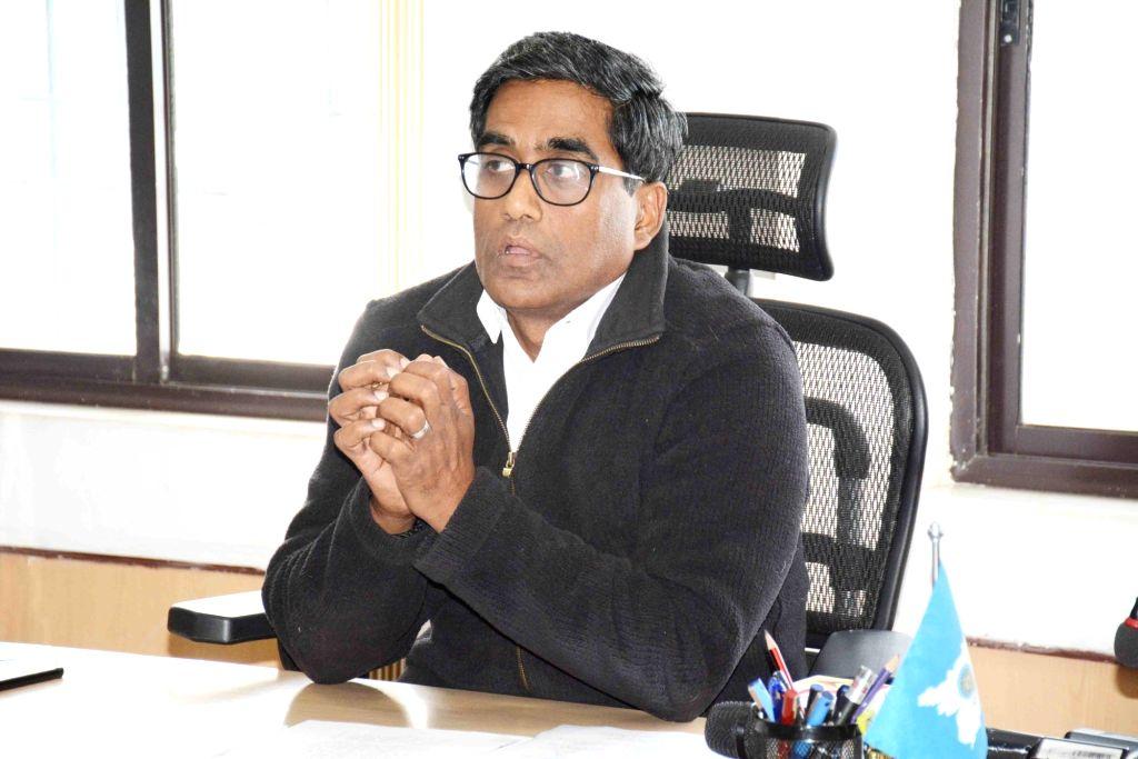 Bihar Energy Department's Principal Secretary Pratyaya Amrit addresses a press conference, in Patna on Feb 6, 2020.