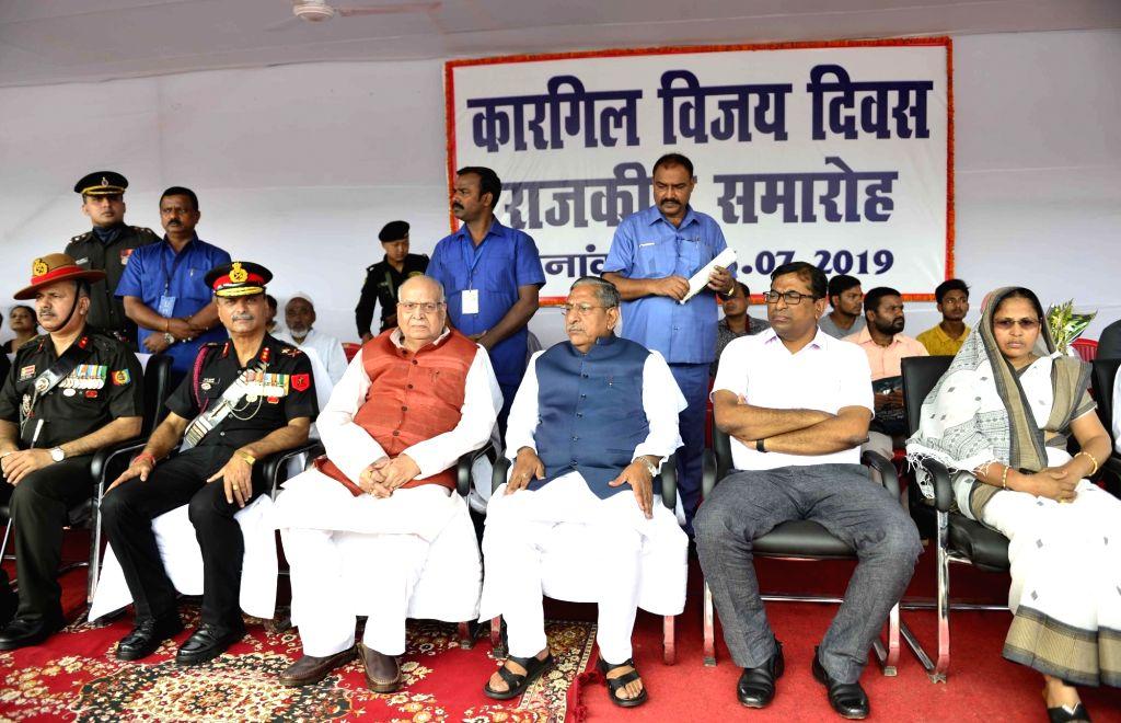 Bihar Governor Lalji Tandon and Cabinet Minister Nand Kishore Yadav during a programme organised to commemorate the 20th Anniversary of Kargil Vijay Diwas, in Patna on July 26, 2019. - Nand Kishore Yadav