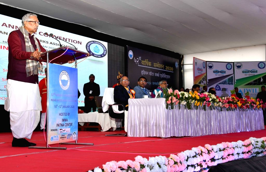 Bihar Governor Phagu Chauhan addresses at the 52nd Annual Convention of Indian Water Works Association, in Patna on Jan 10, 2020. - Phagu Chauhan
