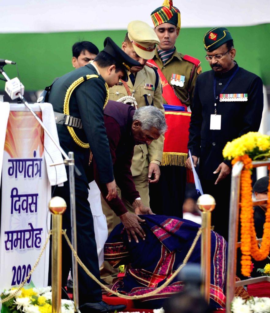 Bihar Governor Phagu Chauhan during the 71st Republic Day celebrations at Gandhi Maidan, in Patna on Jan 26, 2020. - Phagu Chauhan