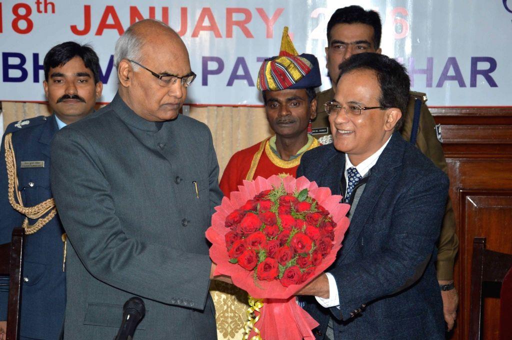 Bihar Governor Ram Nath Kovind during inauguration of Vice-Chancellor`s Conference in Patna, on Jan 18, 2016. - Nath Kovind