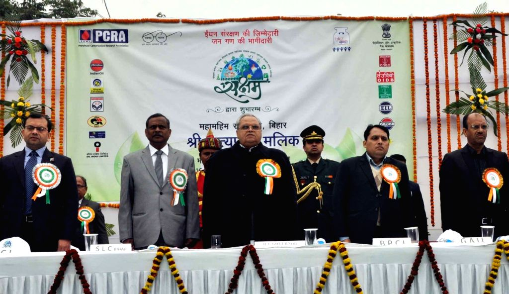 Bihar Governor Satya Pal Malik during the inauguration of an Indian Oil Corporation Ltd. (IOCL) programme in Patna on Jan 16, 2018. - Malik