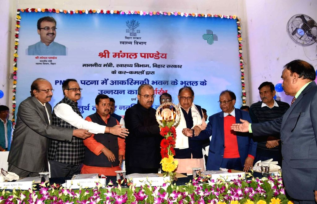 Bihar Health Minister Mangal Pandey at the inauguration of a special burn unit of Patna Medical College and Hospital (PMCH), on Feb 11, 2020. - Mangal Pandey