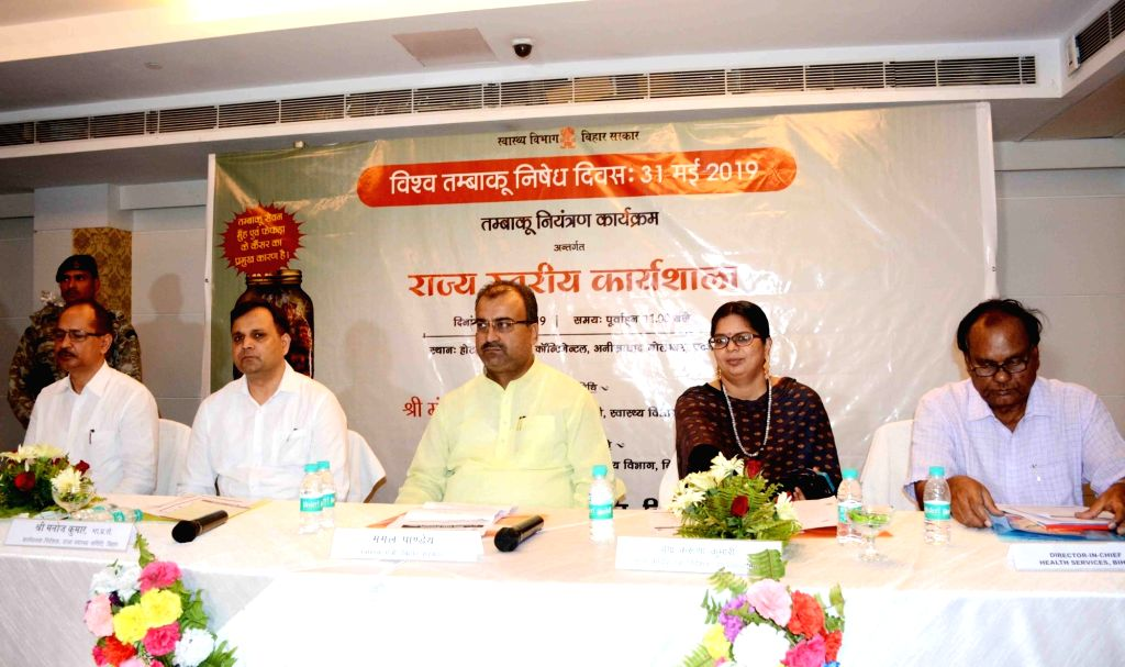 Bihar Health Minister Mangal Pandey during a state level workshop organised on World No Tobacco Day, in Patna on June 1, 2019. - Mangal Pandey