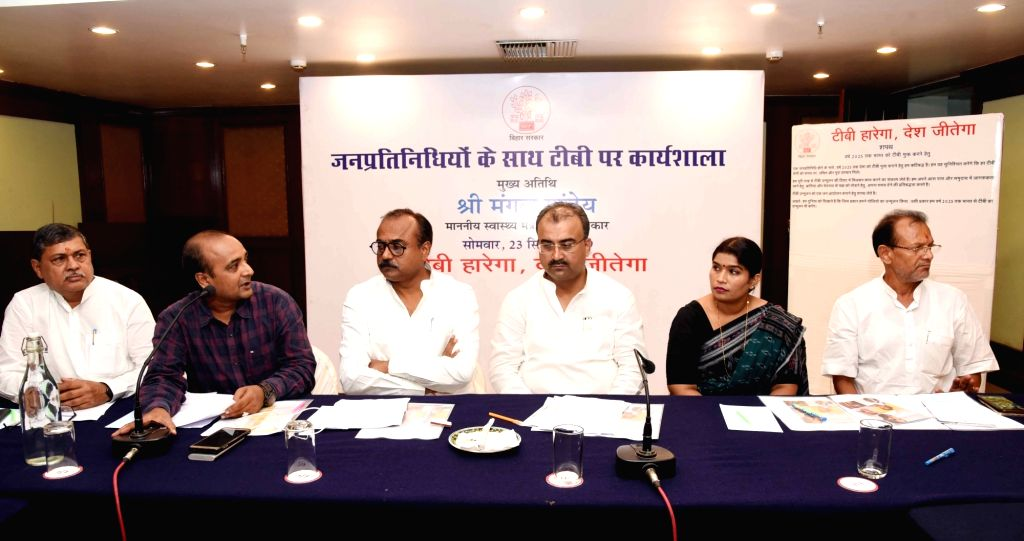 Bihar Health Minister Mangal Pandey during a workshop on Tuberculosis (TB), in Patna on Sep 23, 2019. - Mangal Pandey