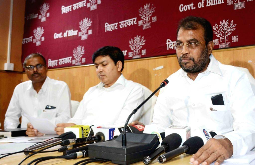 Bihar Industries Minister Shyam Rajak addresses a press conference in Patna on Sep 27, 2019. - Shyam Rajak