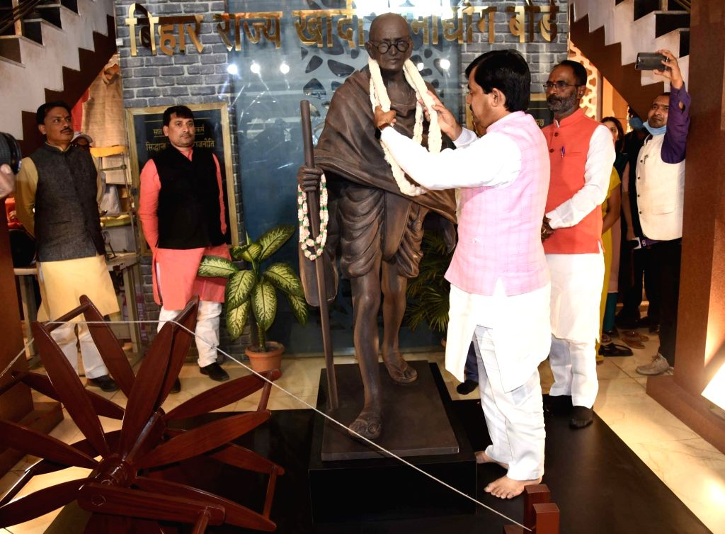 Bihar Industries minister Syed Shahnawaz visited Khadi Mall in Patna on Tuesday 02nd March, 2021. - Syed Shahnawaz