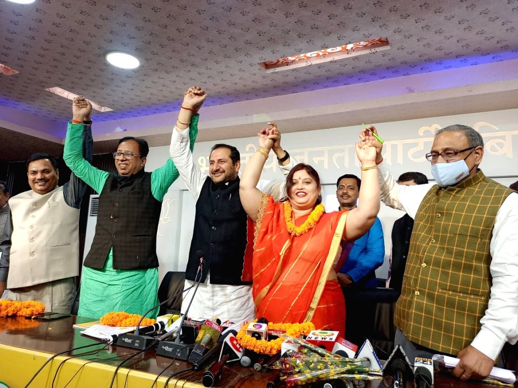 Bihar: Minister Neetan's wife Nutan left the LJP and joined the BJP - Neeta