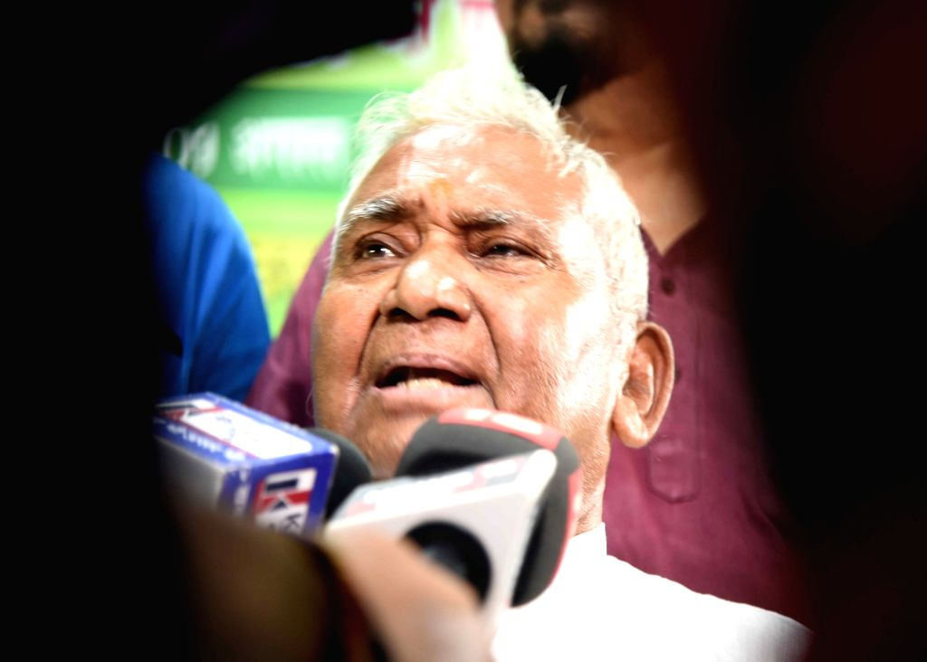 Bihar RJD President Ram Chandra Purbey talks to the media during the party's membership drive in Patna on Aug 9, 2019.