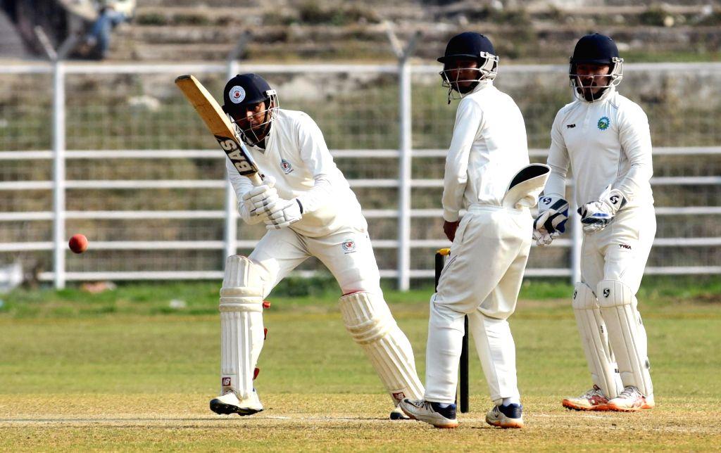 Bihar's Ashutosh Aman in action during a Ranji Trophy match between Bihar and Arunachal Pradesh, in Patna on Feb 5, 2020.