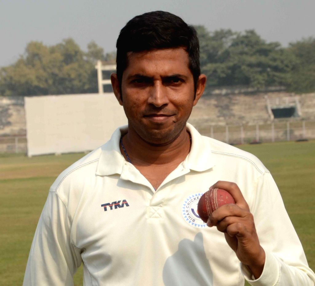 Bihar's Ashutosh Aman on Day 3 of the Ranji Trophy match between Bihar and Arunachal Pradesh at Moinul Haque Stadium, in Patna on Dec 8, 2018.