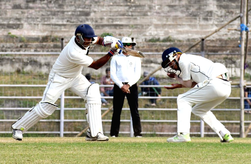 Bihar's Indrajit Kumar in action during a Ranji Trophy match between Bihar and Arunachal Pradesh at Moinul Haque Stadium, in Patna on Dec 6, 2018. - Indrajit Kumar