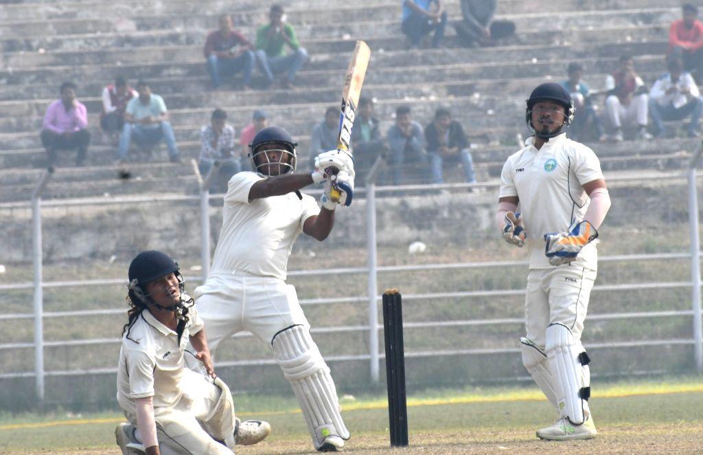 Bihar's Indrajit Kumar in action on Day 2 of the Ranji Trophy match between Bihar and Arunachal Pradesh at Moinul Haque Stadium, in Patna on Dec 7, 2018. - Indrajit Kumar
