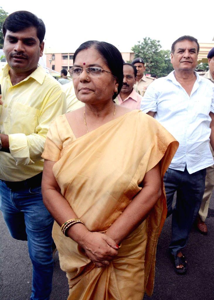 Bihar Social Welfare Minister Kumari Manju Verma arrives at the state legislative assembly, in Patna on July 26, 2018. - Kumari Manju Verma