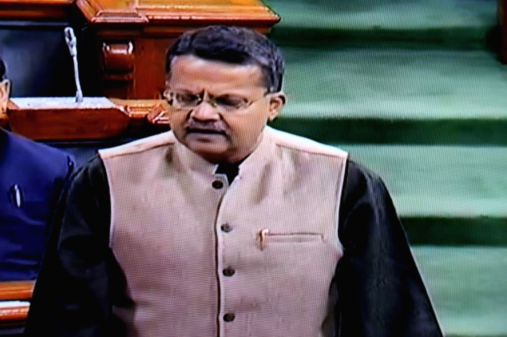 Biju Janata Dal (BJD) MP Bhartruhari Mahtab speaks in Lok Sabha during the Budget session of Parliament, in New Delhi on Feb 4, 2019.