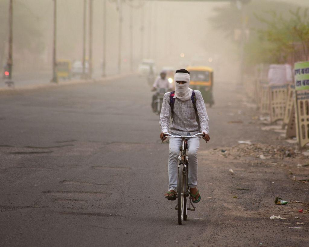 Bikaner witnesses dust storm, on June 6, 2019.