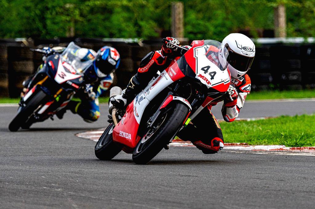 Bike racer Anish Shetty in action at the IDEMITSU Honda Talent Cup. - Anish Shetty