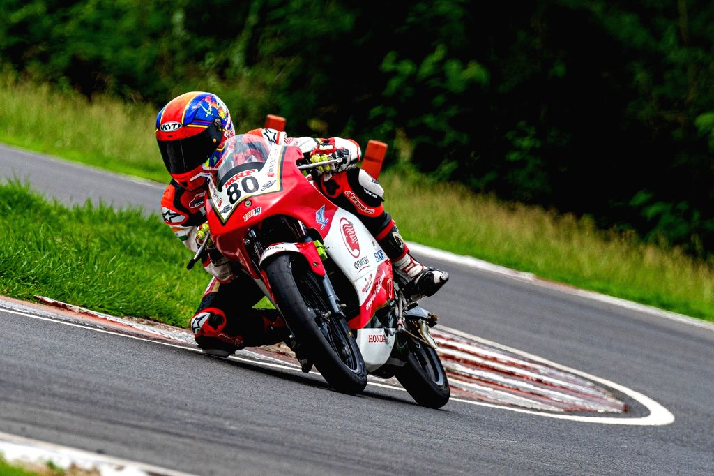 Bike racer Rajiv claims his third victory at the IDEMITSU Honda Talent Cup.