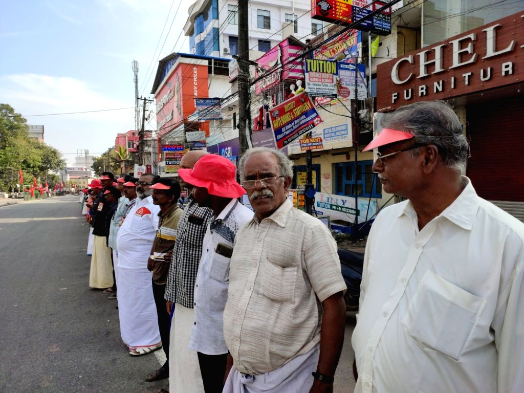 Billed as one of the biggest protests against the CAA, Kerala's CPI-M-led Left Democratic Front (LDF) on Sunday organised a human chain extending from Kasargod to the Tamil Nadu border near here, involving participation of an estimated seven million