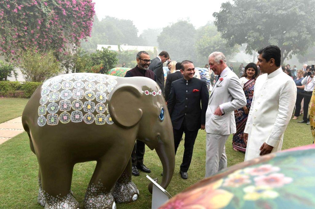 Billionaire diamond trader Nirav Modi (in Black) with HRH Prince Charles of Wales. (File Photo: IANS) - Nirav Modi