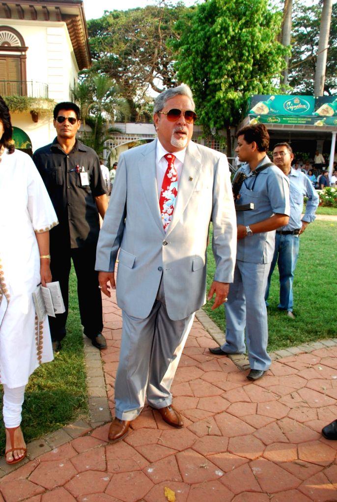 Billionaire Vijay Malaya at McDowell Indian Derby event in Mumbai.