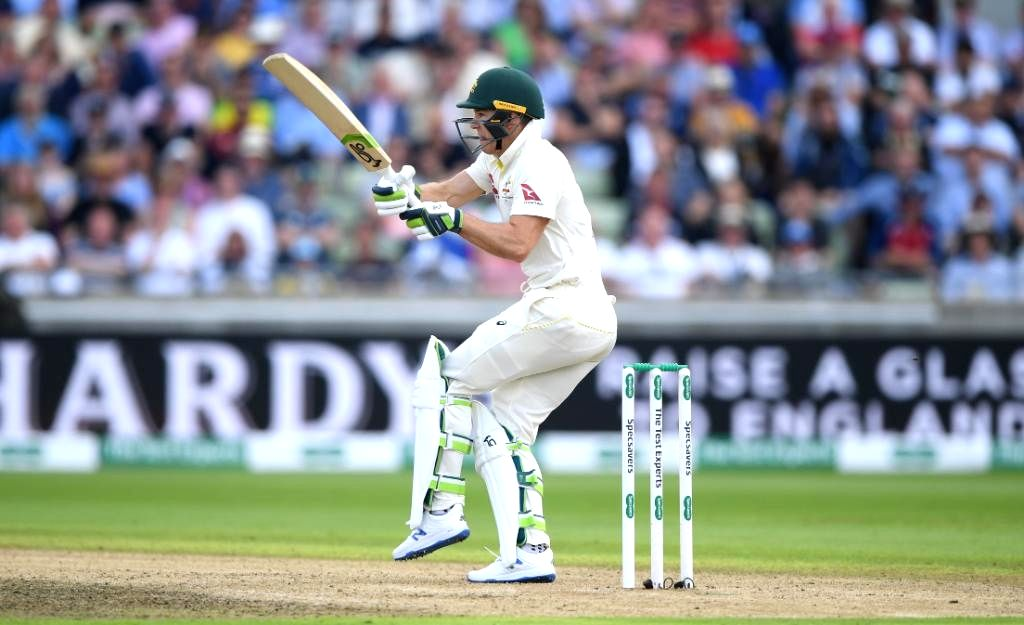 Birmingham: Australia's Tim Paine in action on Day 4 of the first match of ICC World Test Championship between Australia and England at Edgbaston Stadium in Birmingham, England on Aug 4, 2019. (Photo: Twitter/@ICC)