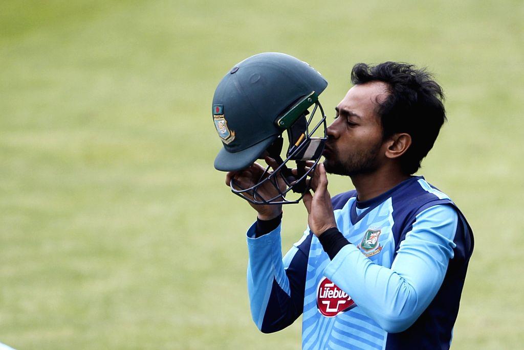 Birmingham: Bangladesh's Mushfiqur Rahim during a practice session ahead of their World Cup 2019 match against India at Edgbaston in Birmingham, England on July 1, 2019. (Photo: Surjeet Yadav/IANS) - Surjeet Yadav
