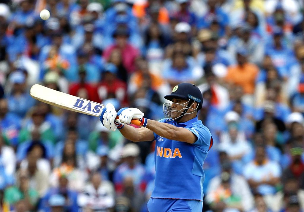 Birmingham: India's M.S. Dhoni in action during the 40th match of World Cup 2019 between India and Bangladesh at Edgbaston stadium in Birmingham, England on July 2, 2019. (Photo: Surjeet Yadav/IANS) - Surjeet Yadav