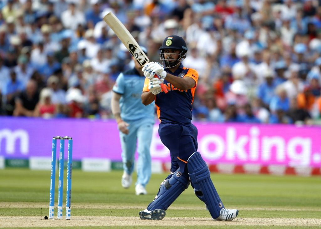 Birmingham: India's Rishabh Pant in action during the 38th match of World Cup 2019 between India and England at Edgbaston stadium in Birmingham, England, on June 30, 2019. (Photo: Surjeet Yadav/IANS) - Surjeet Yadav