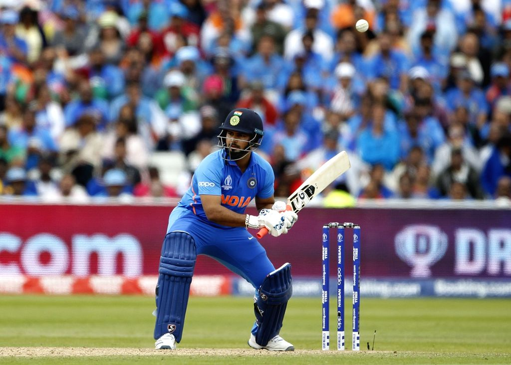 Birmingham: India's Rishabh Pant in action during the 40th match of World Cup 2019 between India and Bangladesh at Edgbaston stadium in Birmingham, England on July 2, 2019. (Photo: Surjeet Yadav/IANS) - Surjeet Yadav