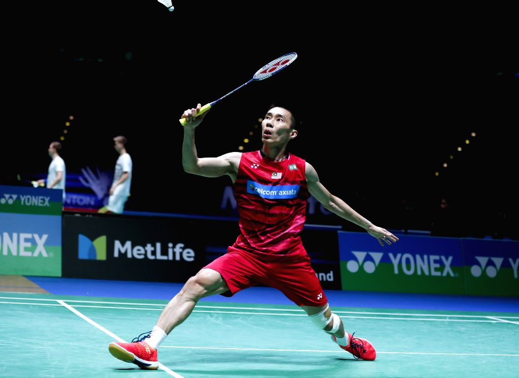 BIRMINGHAM, March 11, 2017 - Lee Chong Wei of Malaysia competes during the men's singles quarterfinal with Tian Houwei of China at All England Open Badminton Championships 2017 in Birmingham, Britain ...