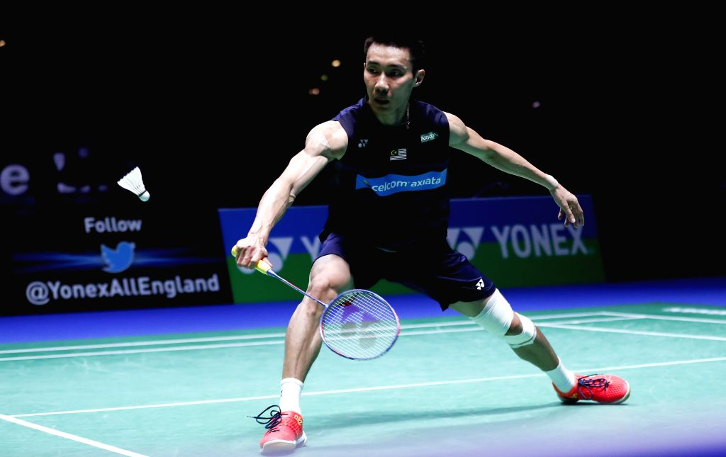 BIRMINGHAM, March 12, 2017 - Lee Chong Wei of Malaysia competes during the men's singles final with Shi Yuqi of China at All England Open Badminton Championships 2017 in Birmingham, Britain on March ...