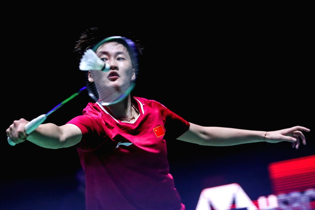 BIRMINGHAM, March 9, 2019 - China's Chen Yufei competes during the women's singles quarter finals match with South Korea's Sung Ji Hyun at the All England Open Badminton Championships 2019 in ...