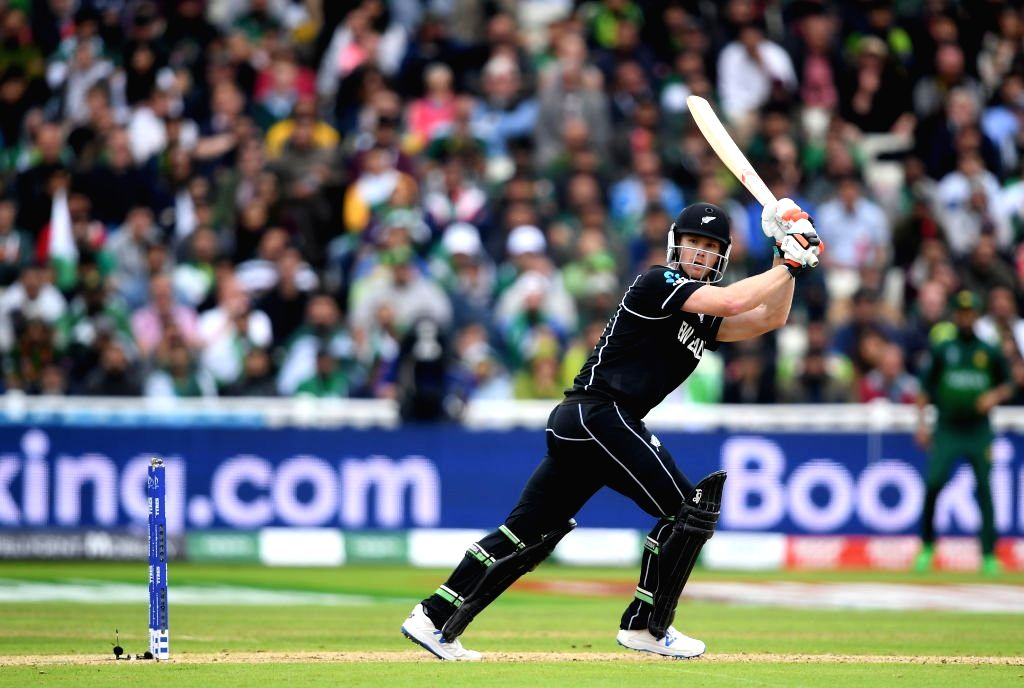 Birmingham: New Zealand's Jimmy Neesham in action during the 33nd match of 2019 World Cup between New Zealand and Pakistan at Edgbaston Stadium in Birmingham, England on June 26, 2019. (Photo Credit: Twitter/@cricketworldcup)