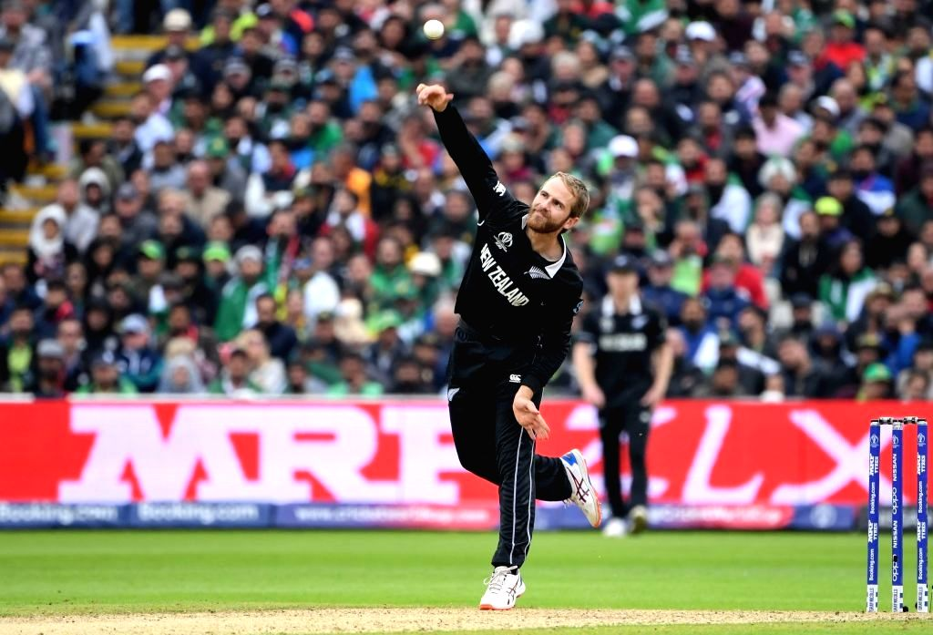 Birmingham: New Zealand's skipper Kane Williamson in action during the 33nd match of 2019 World Cup between New Zealand and Pakistan at Edgbaston Stadium in Birmingham, England on June 26, 2019. (Photo Credit: Twitter/@cricketworldcup)