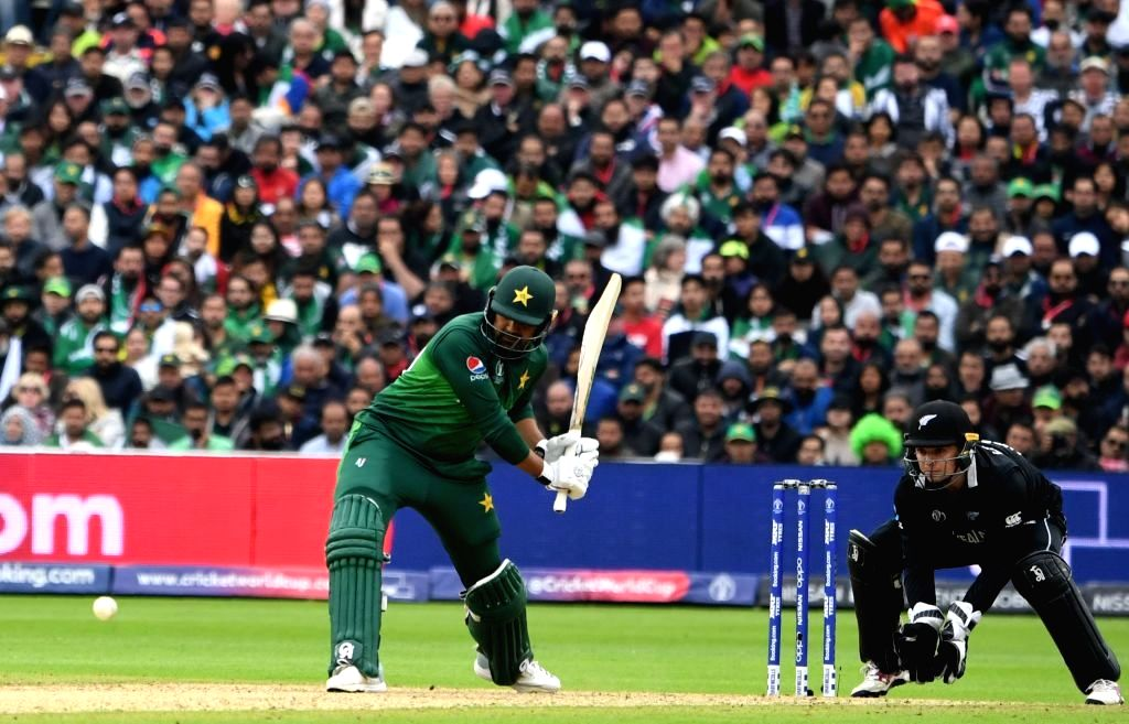 Birmingham: Pakistan's Haris Sohail in action during the 33nd match of 2019 World Cup between New Zealand and Pakistan at Edgbaston Stadium in Birmingham, England on June 26, 2019. (Photo Credit: Twitter/@cricketworldcup)