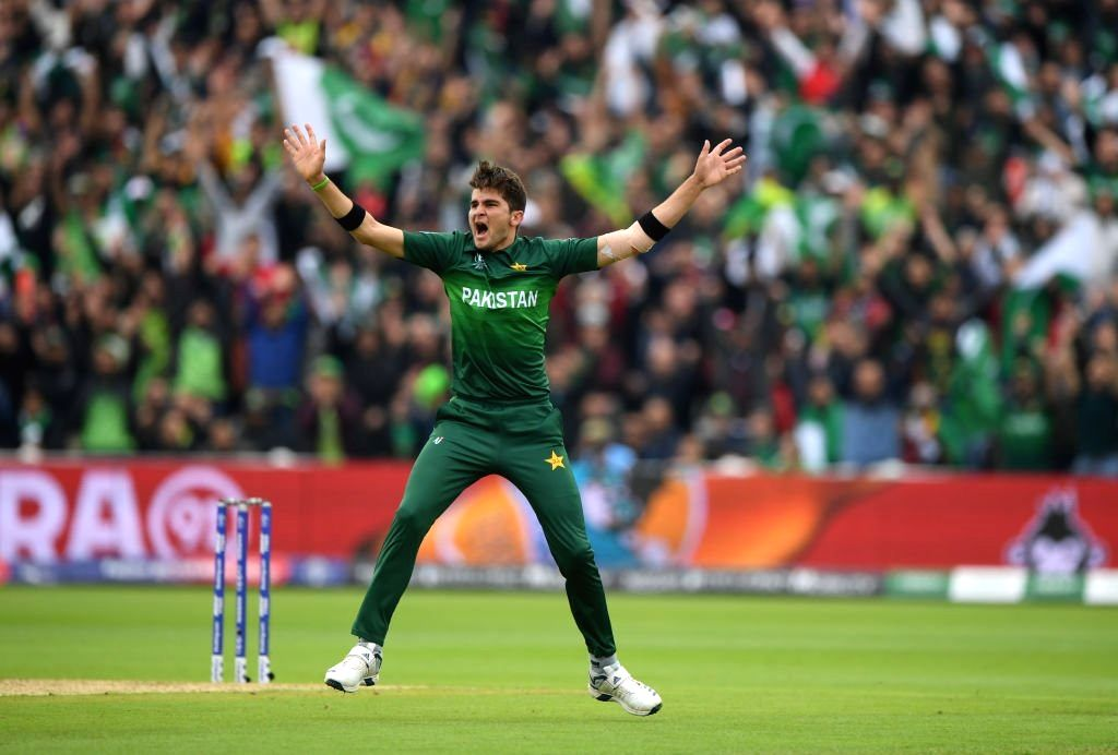 Birmingham: Pakistan's Shaheen Shah Afridi during the 33nd match of 2019 World Cup between New Zealand and Pakistan at Edgbaston Stadium in Birmingham, England on June 26, 2019. (Photo Credit: Twitter/@cricketworldcup) - Shaheen Shah Afridi