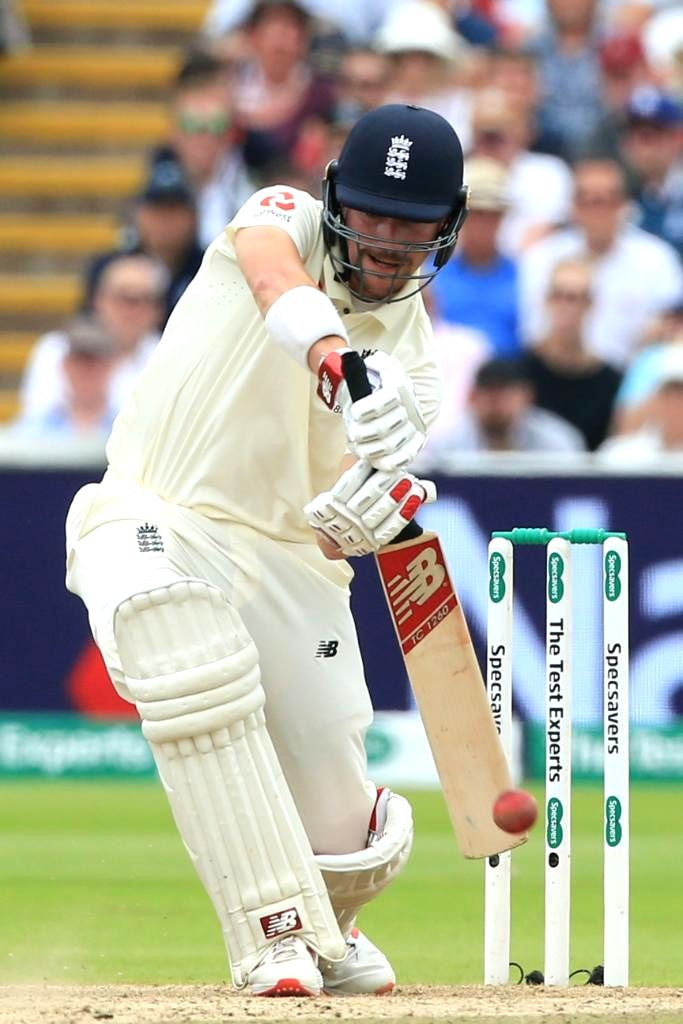 Birmingham: Rory Burns in action on the second day of the 1st Test of ICC World Test Championship between Australia and England at Edgbaston Stadium in Birmingham, England on Aug 2, 2019. (Photo: Twitter/@ICC)