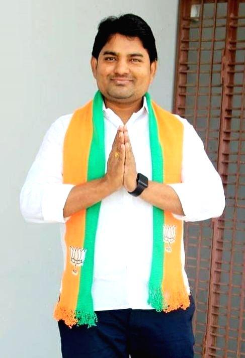 BJP candidate for Nagarjuna Sagar Assembly bypoll is Dr. Panugothu Ravi Kumar. (credit : Panugothu Ravi Kumar/twitter) - Panugothu Ravi Kumar