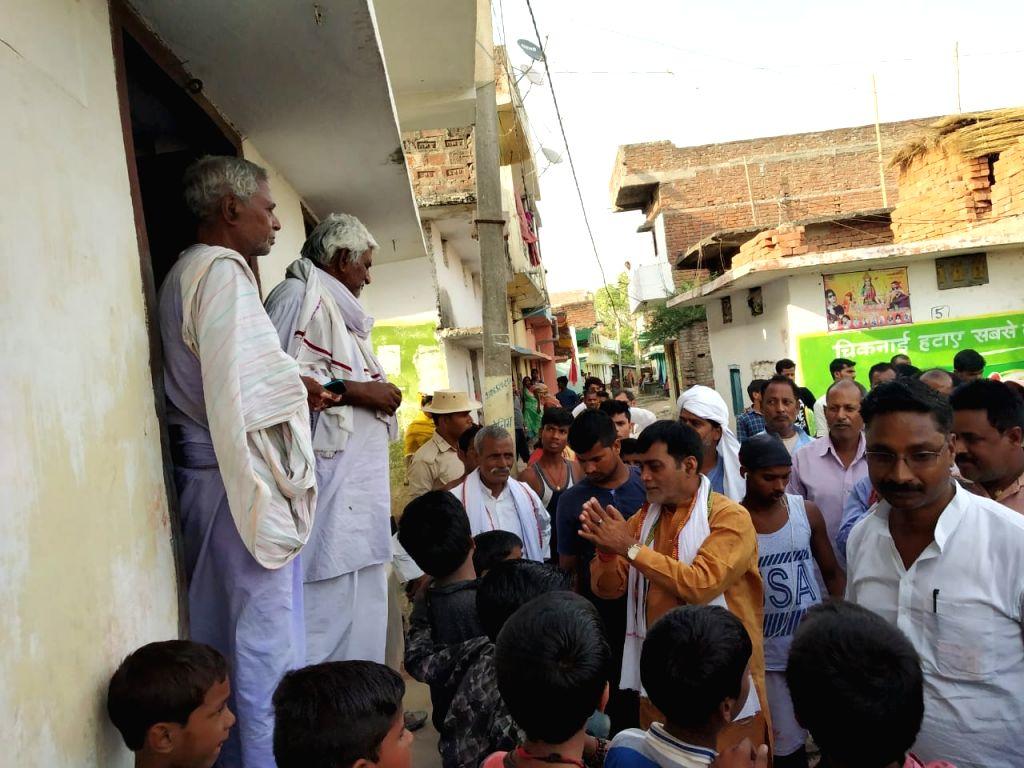 BJP candidate from Patliputra, Ram Kripal Yadav during an election campaign in Bihar's Patliputra, on May 5, 2019. - Kripal Yadav
