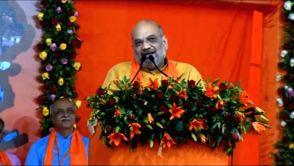 BJP chief Amit Shah addresses a public meeting in Ahmedabad on May 26, 2019. - Amit Shah