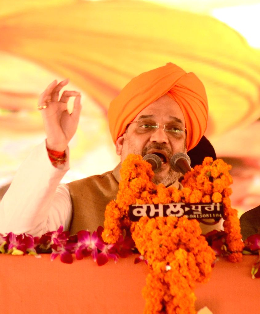 BJP chief Amit Shah addresses during semi-centennial celebrations of Punjabi Suba in Amritsar, on Nov 1, 2016. - Amit Shah